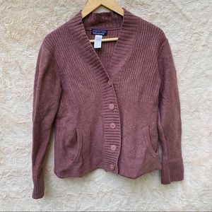 Patagonia Purple Wool Sweater Cardigan